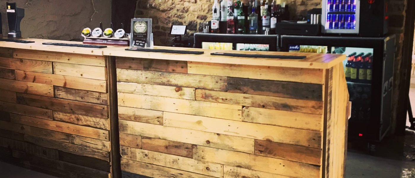 Rustic Bar In BArn, Mobile Bar Hire Gloucestershire